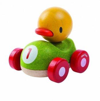 Деревянная игрушка PlanToys® Утенок-гонщик