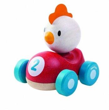 Деревянная игрушка PlanToys® Цыпленок-гонщик