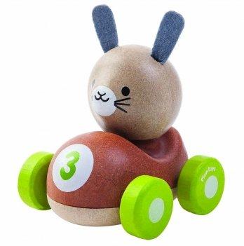 Деревянная игрушка PlanToys® Зайчик-гонщик