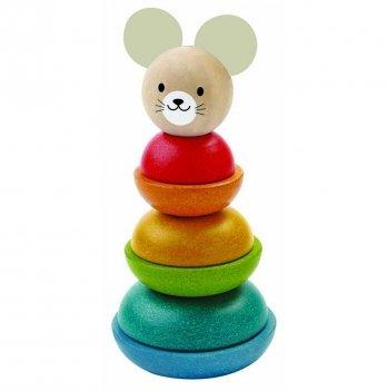 Деревянная пирамидка PlanToys® Мышка, 5681