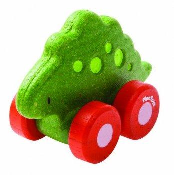 Деревянная игрушка PlanToys® Стегозавр на колёсиках
