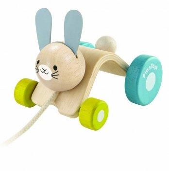 Деревянная каталка PlanToys® Прыгающий кролик