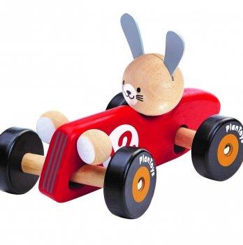 Деревянная машинка PlanToys® Кролик-гонщик