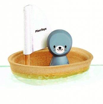 Игрушка для ванной PlanToys® Тюлень в парусной лодке