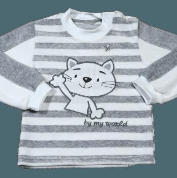 Джемпер велюровый Мій Світ, Серый кот