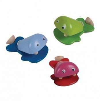 Музыкальная игрушка PlanToys® Рыбка-кастаньета 1 шт.