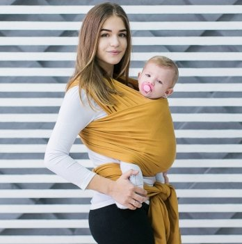 Трикотажный слинг-шарф Love & Carry Мед