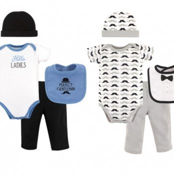 Подарочный комплект для мальчика Hudson Baby, 8 предметов, Hello Ladies