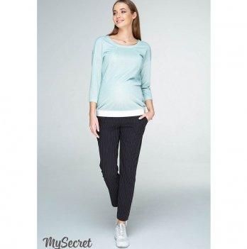 Брюки для беременных MySecret Melani TR-19.011 черный в белую полосочку