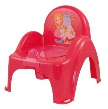 Горшок-стульчик Tega baby Принцессы Красный LP-007-123