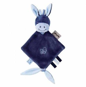 Мягкая квадратная игрушка Nattou, ослик Алекс