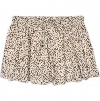 Юбка-шорты для девочки Garden baby, молочный леопард, 59118-03