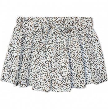 Юбка-шорты для девочки Garden baby, голубой леопард, 59118-03