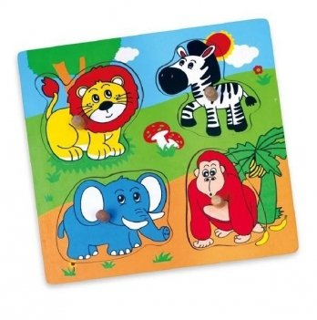 Пазл Viga Toys Дикие животные 59563
