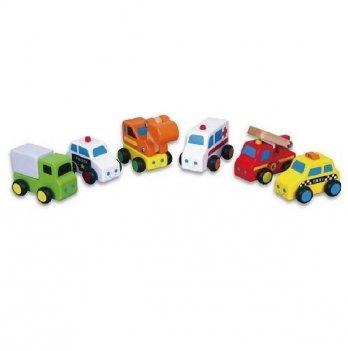 Набор Viga Toys Мини-машинки 59621 6 шт