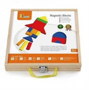 Набор магнитных блоков Viga Toys Формы и цвет