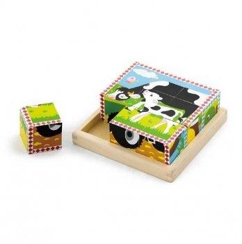 Пазл-кубики Viga Toys Ферма 59789