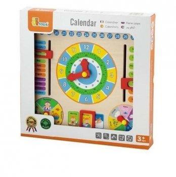 Игрушка Viga Toys Часы и календарь 59872