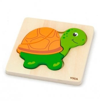 Мини-пазл Viga Toys Черепаха 59933