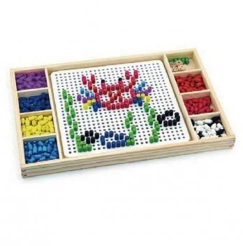 Игра Viga Toys 2-в-1 Мозаика и лудо 59990