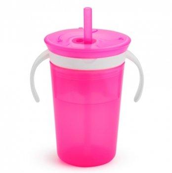 Чашка с контейнером для снеков Munchkin, Snack and Sip, розовая
