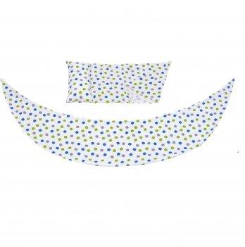 Набор аксессуаров для подушки Nuvita DreamWizar Белый с точками NV7101Dots 2 предмета