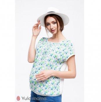 Блуза для беременных и кормящих MySecret Mirra Веточки Молочный BL-20.011