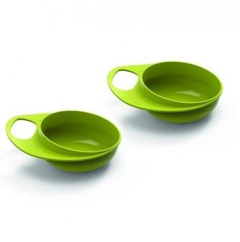 Тарелка для кормления Nuvita Easy Eating глубокая Салатовый NV8431Lime 2 шт