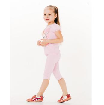 Лосины 3/4 для девочки Smil от 2 до 6 лет розовые