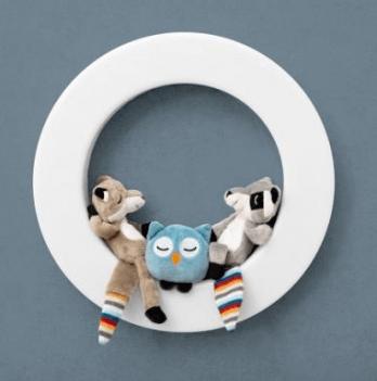 Светильник-ночник настенный Zazu, с датчиком на движение и игрушками Fay, Rex и Otis