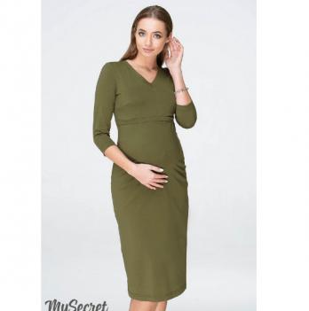 Платье трикотажное для беременных и кормящих, MySecret, цвета хаки