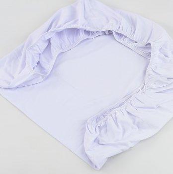 Трикотажная простынь на резинке ТМ Sasha, белая