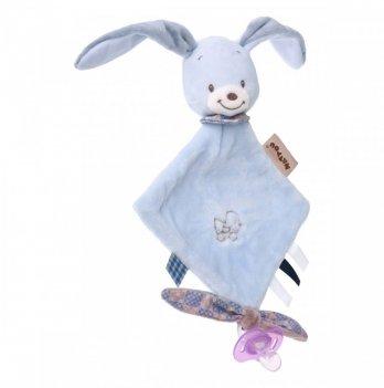 Мягкая квадратная игрушка Nattou, кролик Бибу