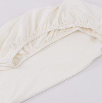 Трикотажная простынь на резинке ТМ Sasha, молочная