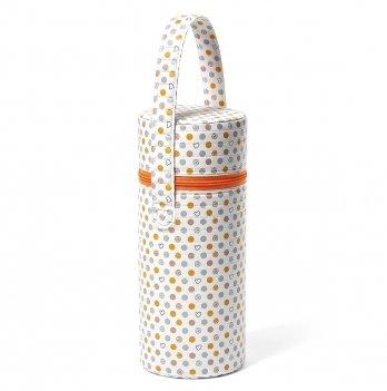 Термоупаковка для бутылочки BabyOno Белый с сердечками 604/02