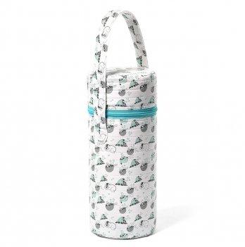 Термоупаковка для бутылочки BabyOno Белый с ленивцами 604/03