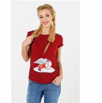 Футболка для беременных To Be Бордовый 4076041-57