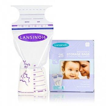 Пакеты LANSINOH для хранения и замораживания грудного молока  (25 шт., из полиэтилена)
