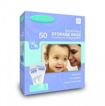 Пакеты LANSINOH для хранения и замораживания грудного молока  (50 шт., из полиэтилена)