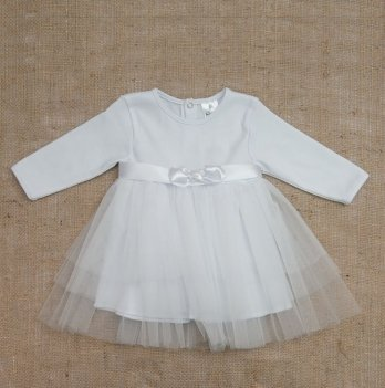 Платье Бетис Нежность интерлок/фатин Белый 27075203