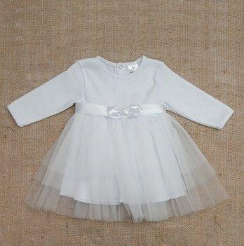 Платье Бетис Нежность интерлок/фатин Белый 27075208 1,5-3 года
