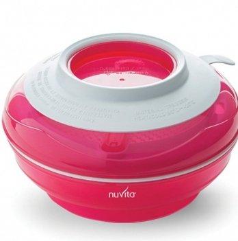Тарелка малыша Nuvita 4 в 1, розовая