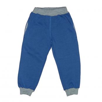 Штаны для мальчика Мій Світ с начесом, синий/серый