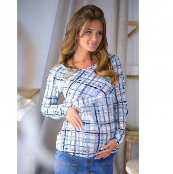 Джемпер для беременных и кормящих To Be Голубой/Серый 4027437