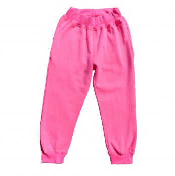 Штаны для девочки Мій Світ с начесом, розовые