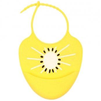 Слюнявчик силиконовый Baby Team 6590 Солнышко