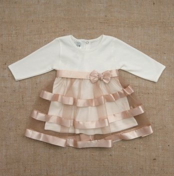 Платье Бетис Маленькая Леди интерлок Кофейный 27071730
