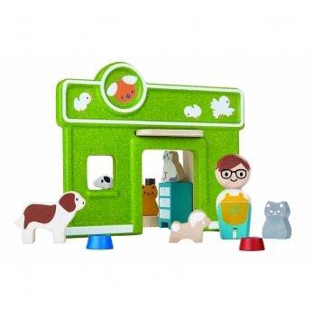 Деревянный игровой набор PlanToys® Ветеринарная клиника