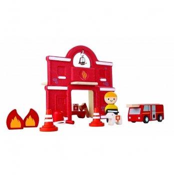 Деревянный игровой набор PlanToys® Пожарная часть