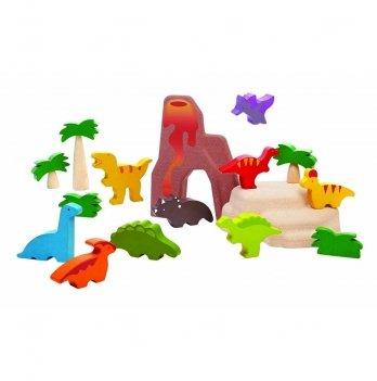 Деревянный игровой набор PlanToys® Набор динозавров